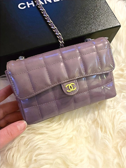 Chanel Extra Mini in Patent Chocolate Bar