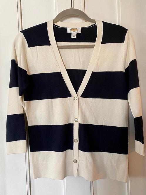 Talbots Stripe Cardigan
