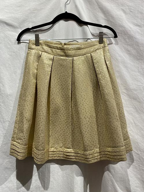 Shoshanna Gold Pleated Skirt