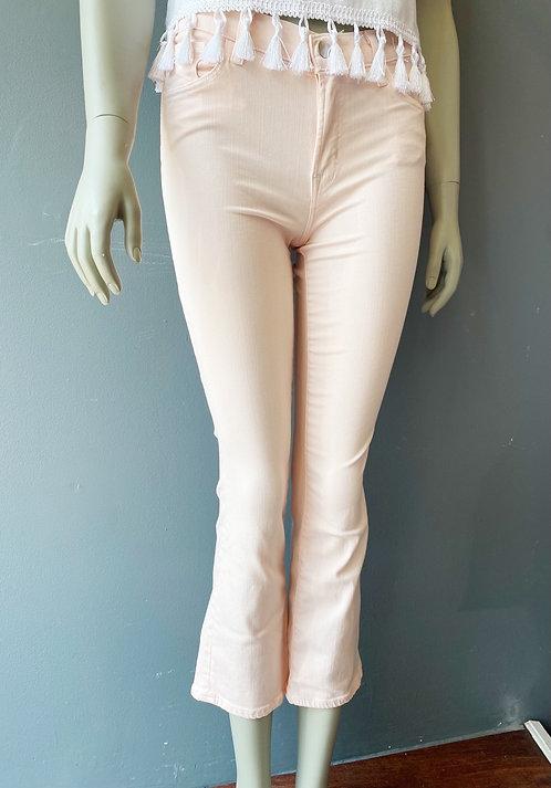 "JBrand ""Selena"" Barely Pink Jeans   27"