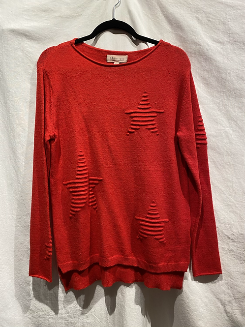 Philosophy Star Red Sweater