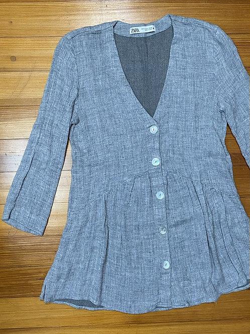 Zara Button Front Blouse