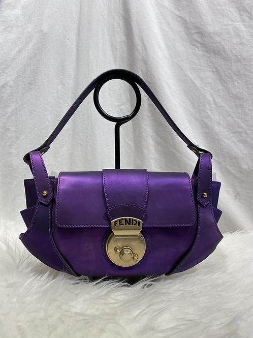 Fendi Metallic Borsa Tuc Shoulder Bag
