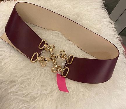 J.McLaughlin Leather Wide Belt