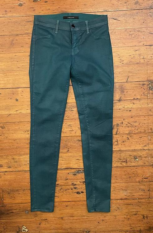 JBrand Green Coated Skinny Jeans