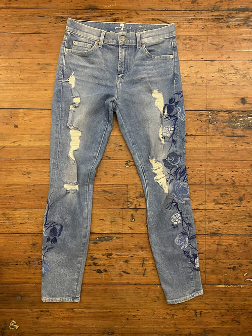7 For All Mankind Floral Jeans