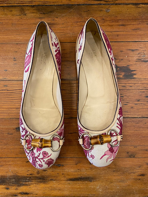 Gucci Floral Flats