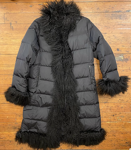 Burberry Fur Trim Down Parka