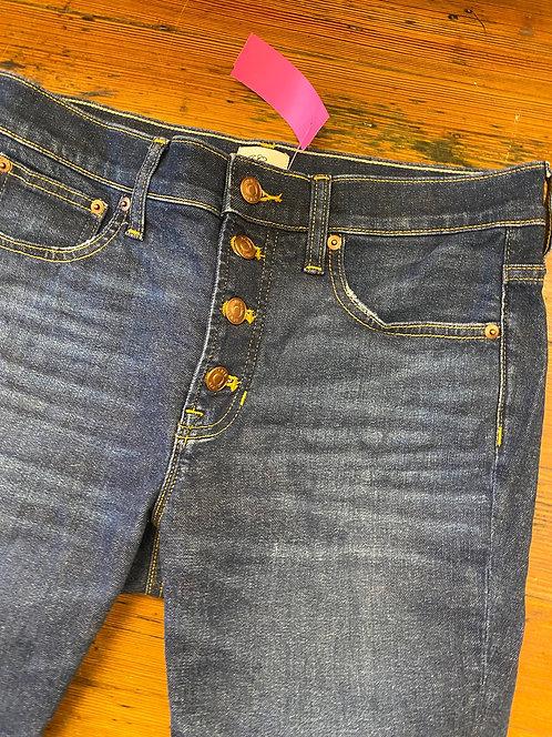 """J.Crew 9"""" Toothpick Jeans   28"""