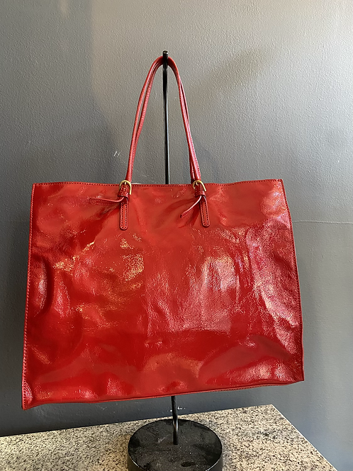 Talbots Patent Leather Tote