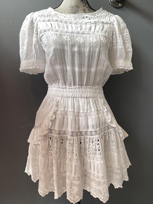 LoveShackFancy Little White Dress | Medium