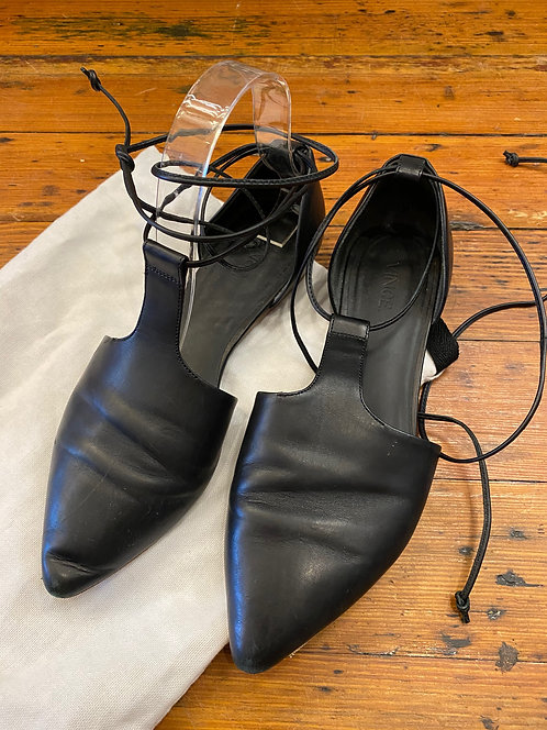 Vince Ankle Tie Flats