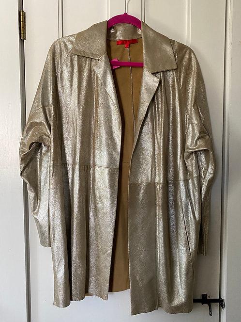 Shamask Metallic Leather Jacket