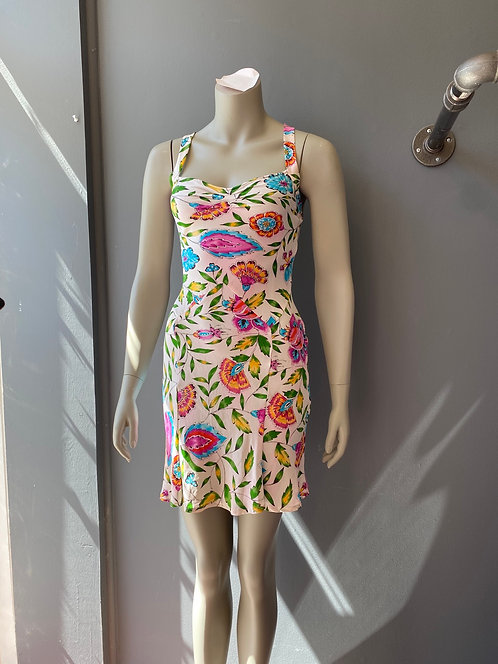 DVF Silk Floral Dress