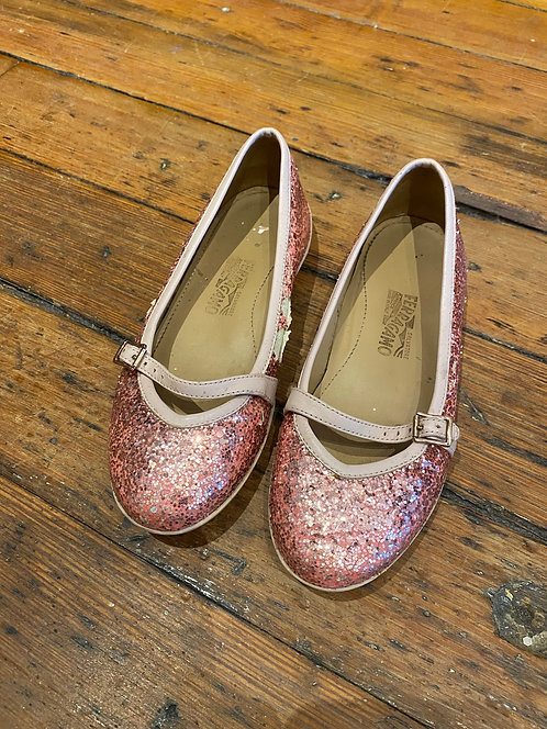 Ferragamo Glitter Flats