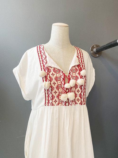Zara Pom Pom Mini Dress | XS