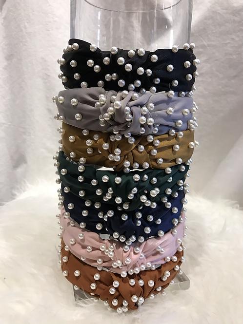 Satin Pearl Headbands