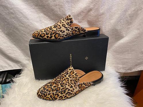 Halogen Leopard Mules