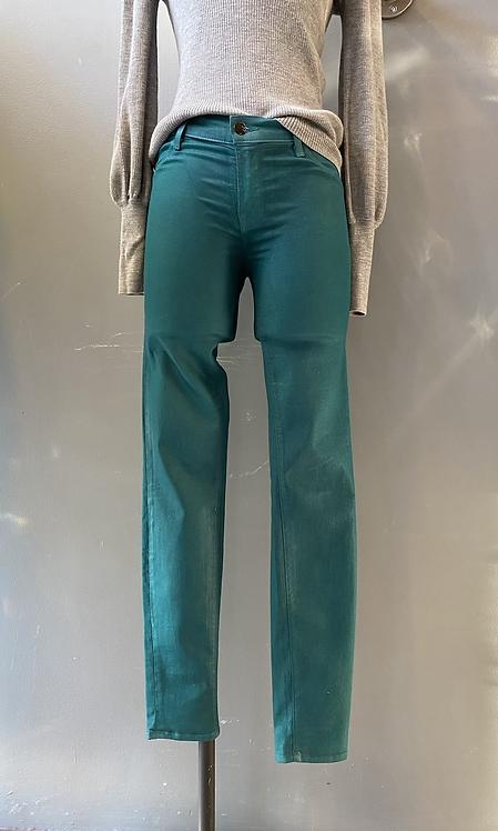 JBrand Coated Green Skinny Jeans