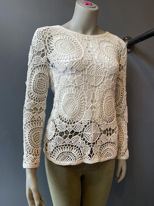 Diane von Furstenberg Crochet Top   Small
