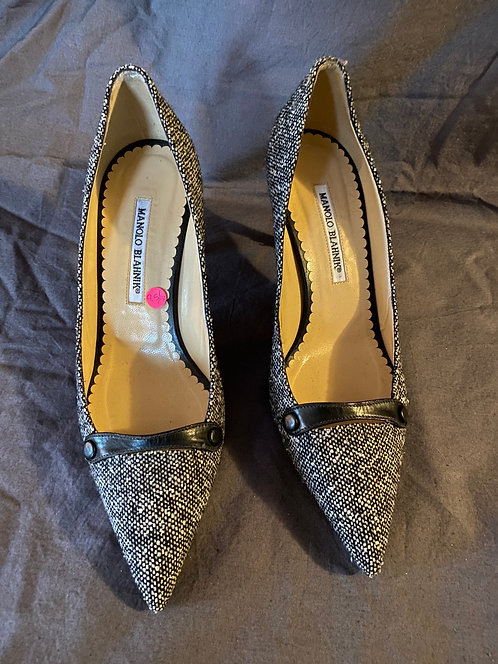 Manolo Blahnik Tweed Pumps