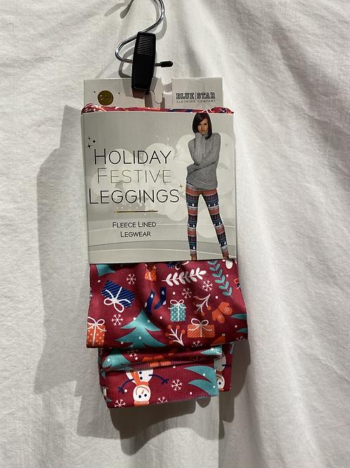 Holiday Fleece Lined Leggings