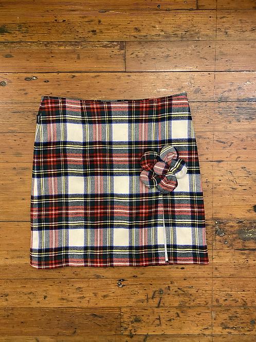 Moschino Plaid Skirt