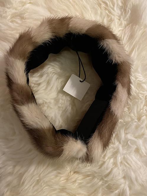 Mink Velvet Lined Velcro Headband