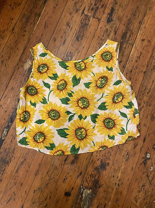 No Label Sunflower Crop Tank | Small