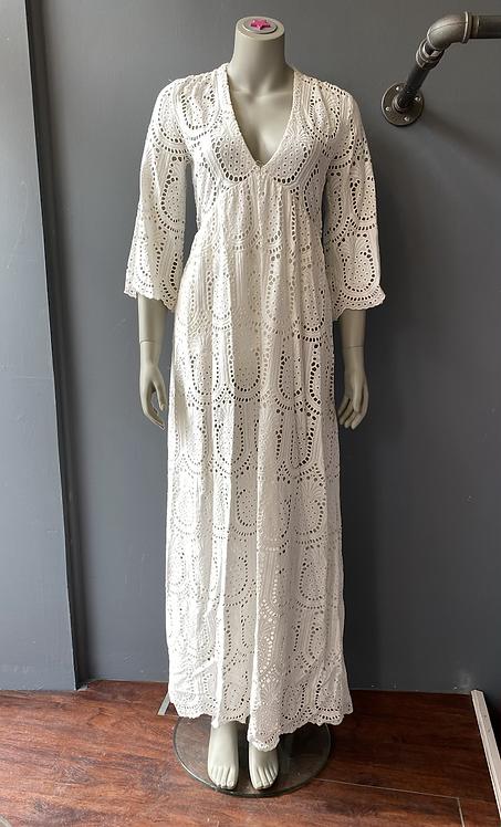 Valerie Khalfon Lace Maxi Dress
