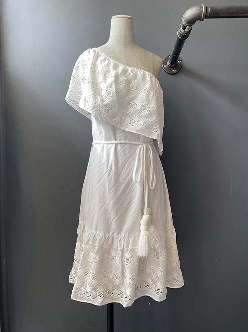 Maette Eyelet 1 Shoulder Dress