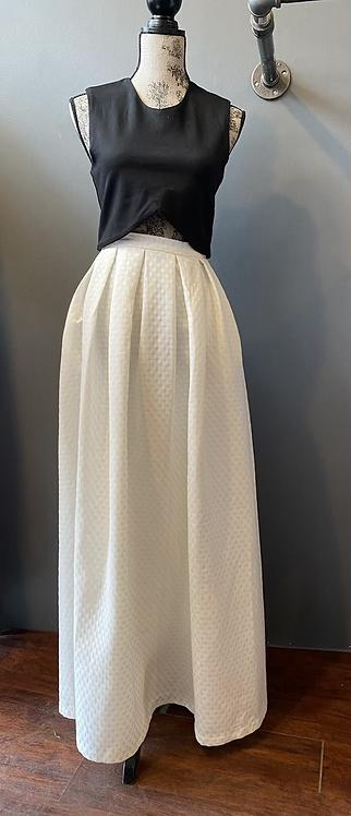 Frnch Dot Maxi Ball Skirt