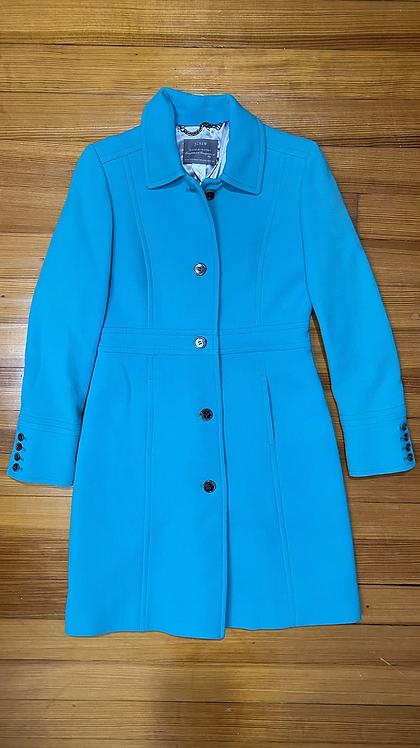 J.Crew Lady Day Teal Coat