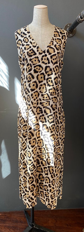 Equipment Silk Leopard Dress