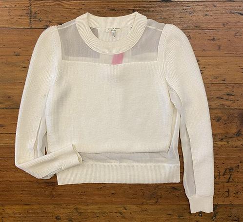 Rag & Bone Silk Detail Sweater