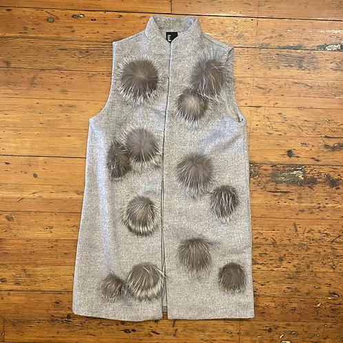 Love Token Fur Pom Vest