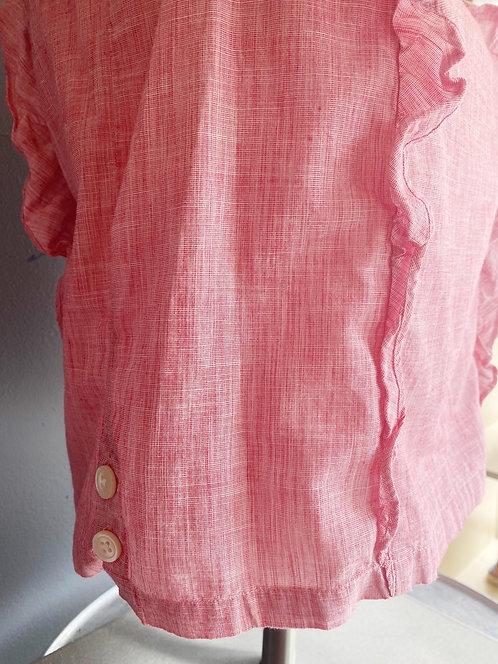 Madewell Ruffle Linen Top | XS