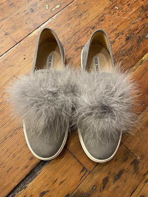 Steve Madden Fur Pom Pom Sneakers