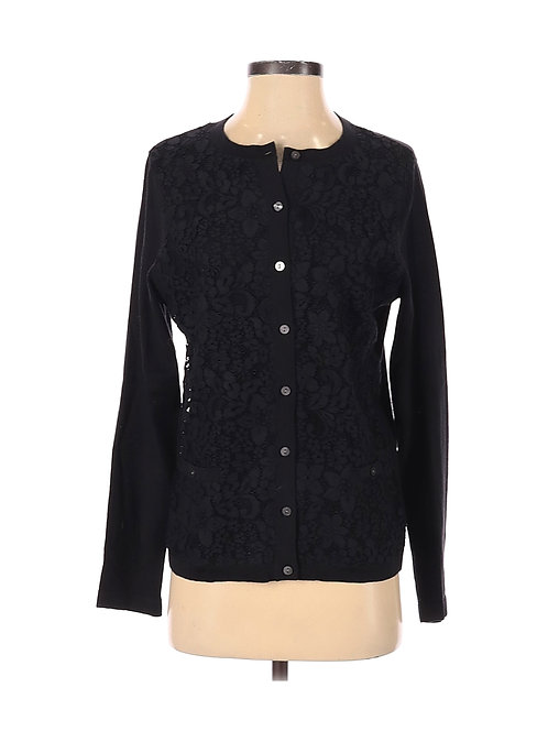 Lands End Lace Front Cardigan