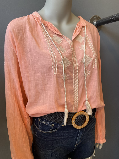 (No Label) Coral Cotton Tunic | Large
