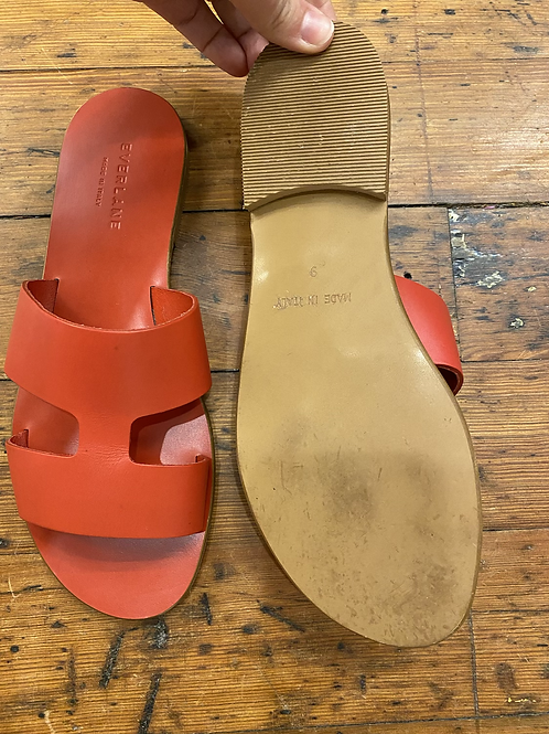 Everlane Red Leather Sandals   9
