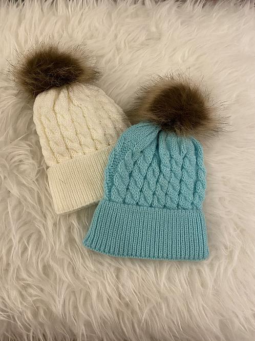 Wish Cableknit Pom Hat
