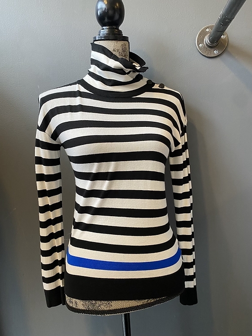 North Face Striped Turtleneck