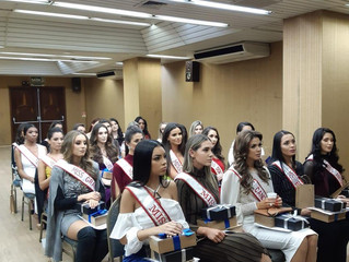 Dra Gabrielle fala para as candidatas a Miss RS Latina