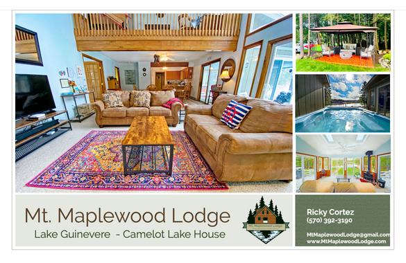 Mt. Maplewood Lake House Postcard