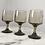 Thumbnail: Set of 3 vintage 70s smoky wine glasses
