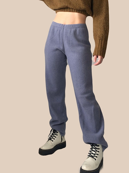 Dusty blue fleece pants