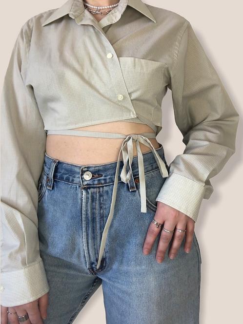 Re-Designed Wrap Blouse (S-M-L)
