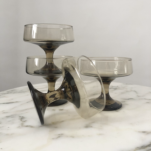 Set of 4 Vintage 70s Cocktail Glasses
