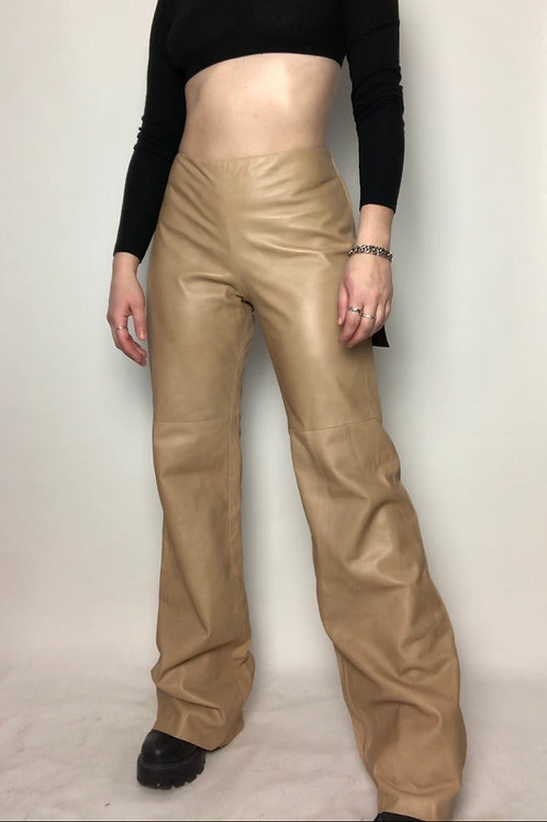 Danier Leather Pants in color Biscuit (size 10)